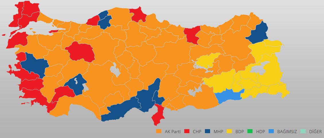 31 Mart Seçim Sonuçları Harita Görselleştirmesi Daha Doğru Yapılabilir