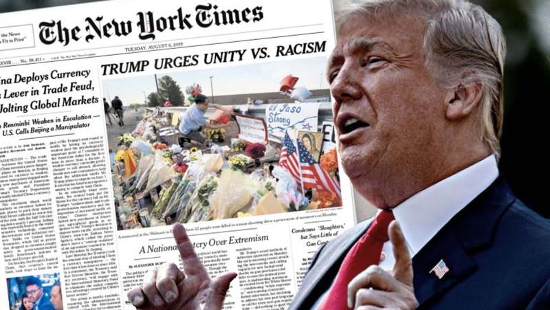 At Last New York Times Gets Serious >> New York Times Tepki Ceken Trump Basligini Degistirdi Journo